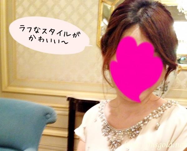 結婚式髪型ロングスタイル