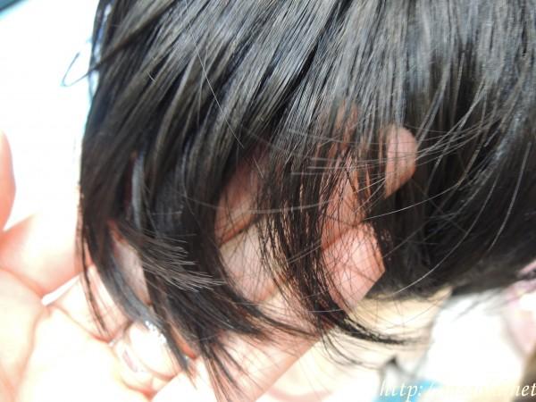 黒髪ウィッグ毛質